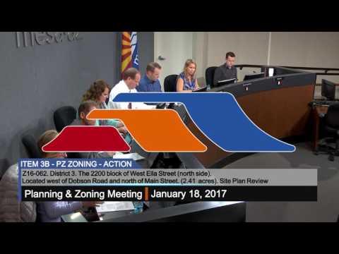 Planning & Zoning - 1/18/2017