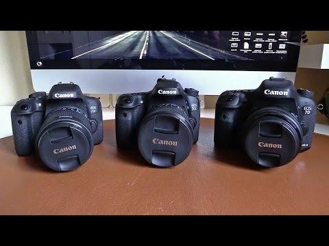 Canon EOS 750D (T6i) vs 70D vs 7D Mk II | Comparativa