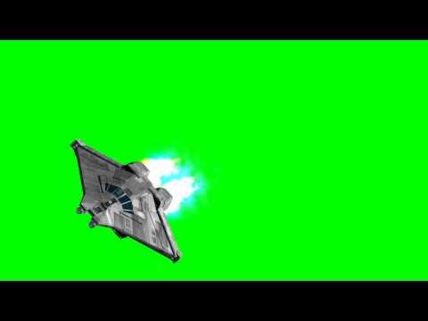 Alien Movie Spaceship Narcissus -greenscreen effects