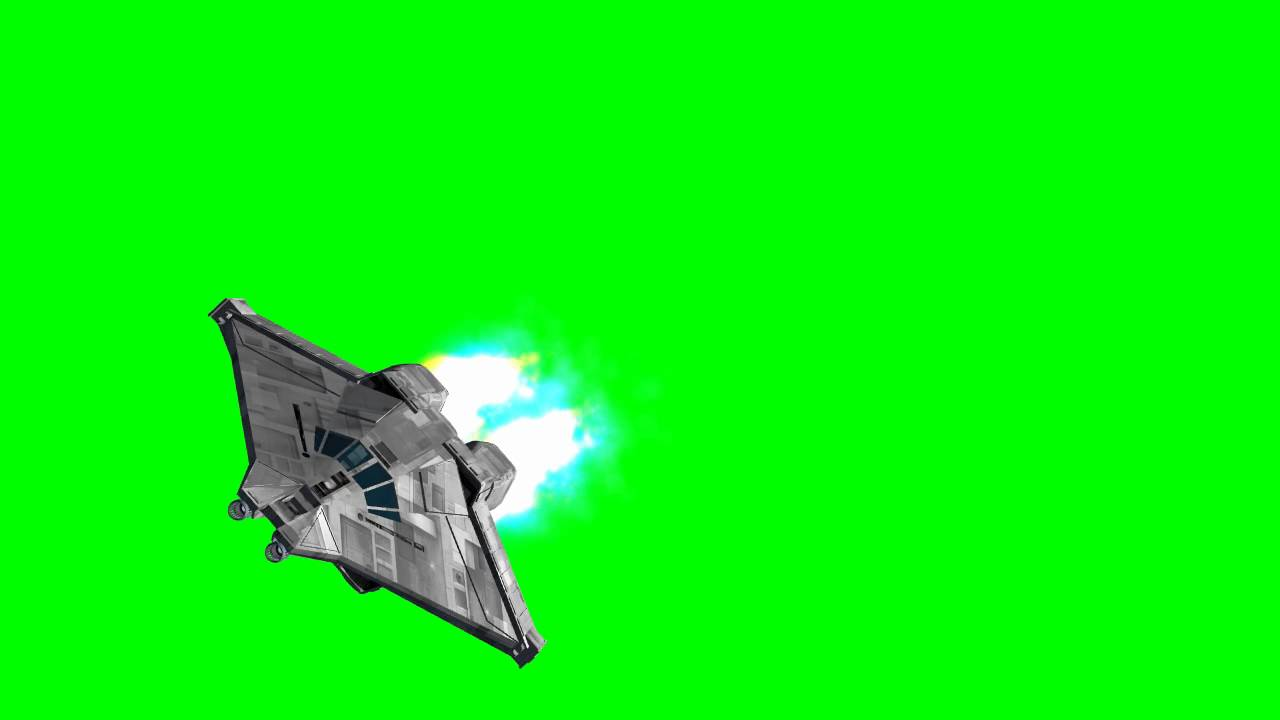 Alien Movie Spaceship Narcissus -greenscreen Effects
