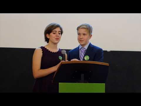 """Joanna + Jackson Share Hillbrook's """"Kiva Lending Club"""" at Kiva Launch Party, 11/1/2017"""