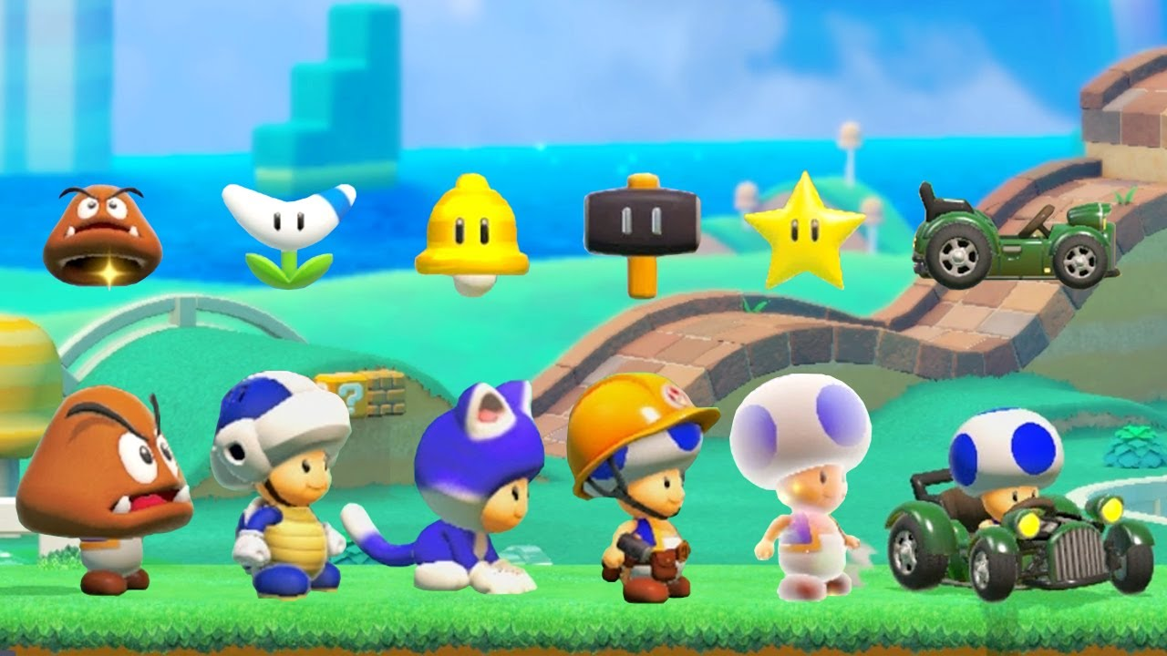 Super Mario Maker 2 | All Super Mario 3D World Toad Power-Ups
