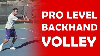 Backhand Volley Technique | PRO LEVEL VOLLEYS