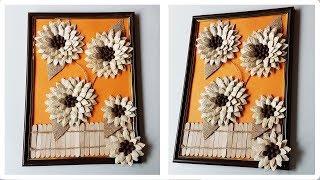 How to DIY Pumpkin Seeds Decoration Craft Tutorial | Как сделать декорацию из тыквенных семечек
