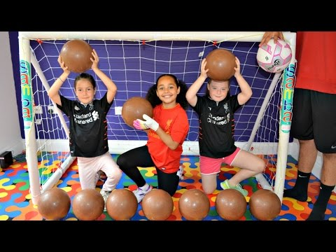 Thumbnail: BASHING 10 Giant Surprise Chocolate Footballs - Football Challenges - Kinder Surprise Eggs Opening