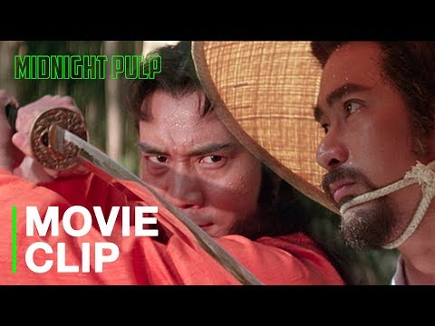 """Two swordsmen fight off ninja assassins   Amazing action sequence from """"Duel to the Death' [HD]"""