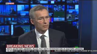 NATO Secretary General On Ukraine, Russia, Afghanistan & Islamic State