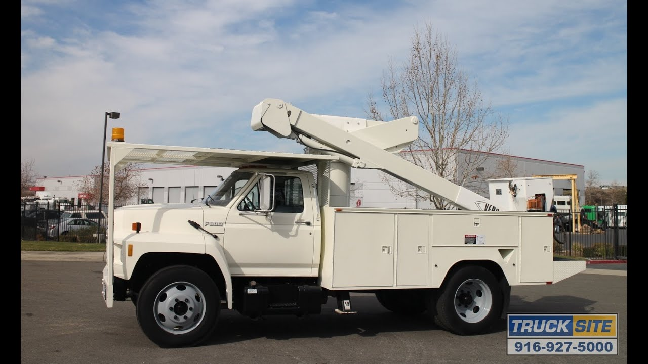 1991 Ford Versalift Vst4000i Bucket Truck For Sale By