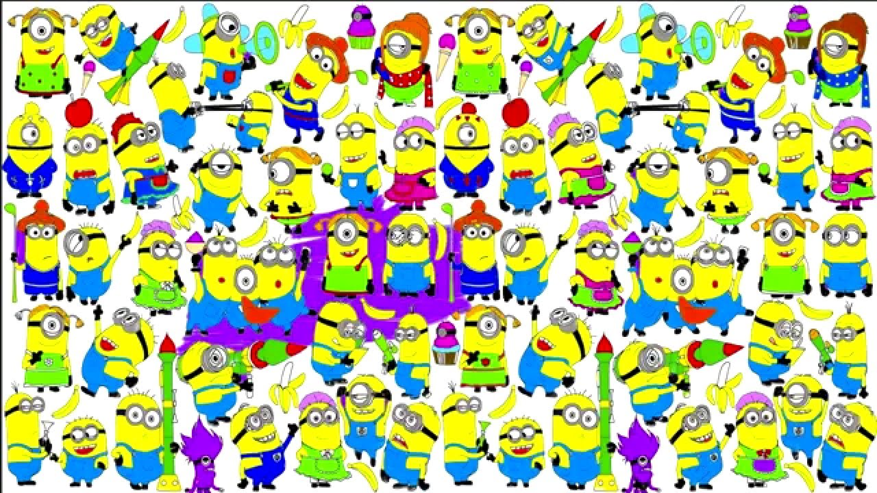 many minions from despicable me coloring for children minions