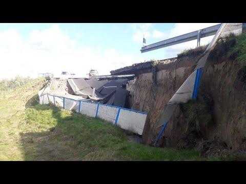 Autobahn 20: Fahrbahnstück weggebrochen