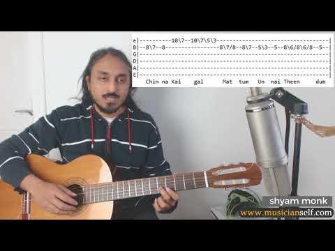 [Raga Guitar] Nila kaygirathu TABS | A R Rahman Hariharan Detailed