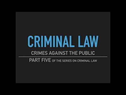 selected criminal law