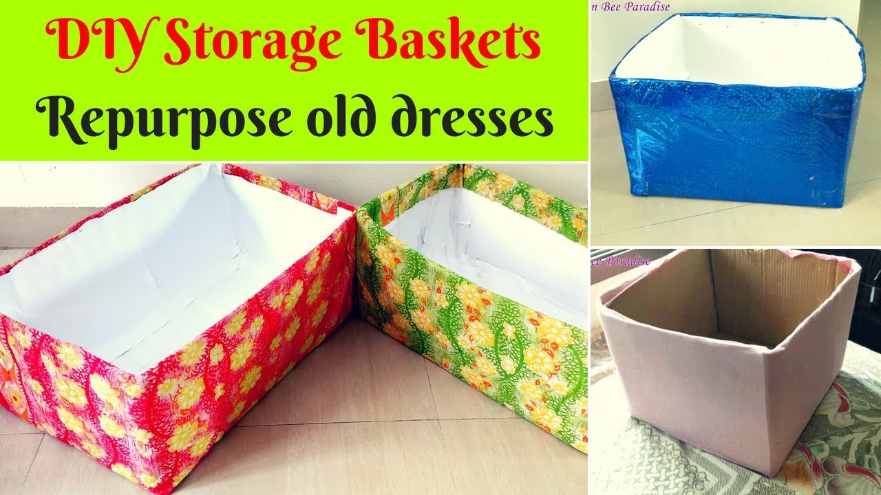 3 Diy Storage Baskets No Cost Re Purpose Old Clothes Easiest Method The Queen Bee Paradise