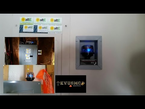 MidNite Solar 300 Volt AC Surge Protection Mounting On All Your Electric Power Panel Boxes By KVUSMC