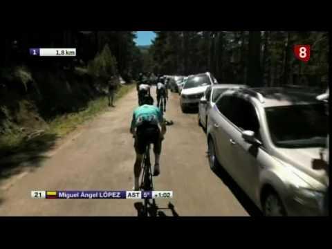 Últimos 5 kilómetros Quinta etapa Vuelta a Burgos. Llegada a Neila