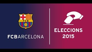 The end of election day to determine fc barcelona board directors, with announcement winner and a speech from new president ---- bar...