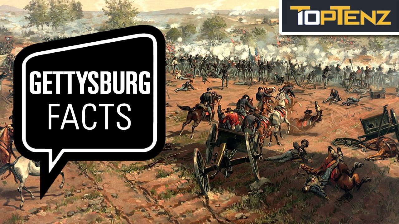 Top 10 Interesting Facts About the Battle at Gettysburg - YouTube