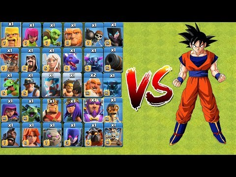 Who Can Survive? COC All Troops VS GOKU | Clash Of Clans | New Troops 2018