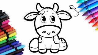 Cute Cow Coloring For Kids | Coloring and Drawing For Toddlers by Learn Colors Toy Art