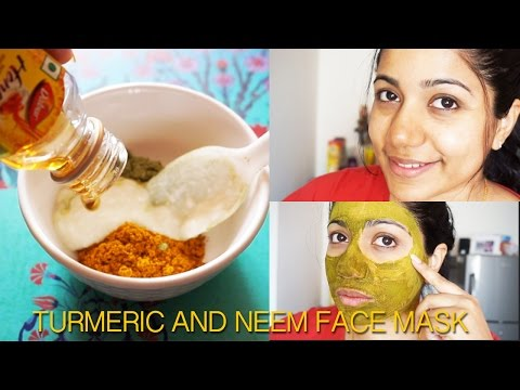 DIY TURMERIC & NEEM ANTISEPTIC FACE PACK FOR ACNE FREE SMOOTH SKIN