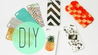 DIY Cell Phone Case - How To Make Cute Iphone 6S Designs by ANN LE(For links to all MATERIALS and Step by Step instructions, you can go here: http://bit.ly/DIYPhoneCaseGuide I love seeing all those great couture style cell phone ..., 2013-07-28T16:00:35.000Z)
