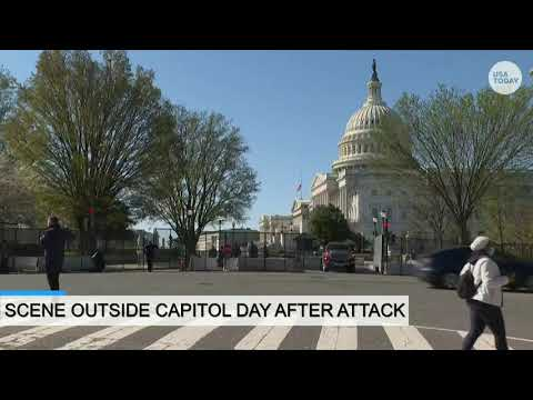 Scene outside Capitol after man rammed into barrier killing an officer on Friday | USA TODAY