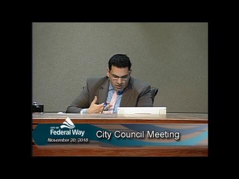 11/20/2018 - Federal Way City Council - Regular Meeting