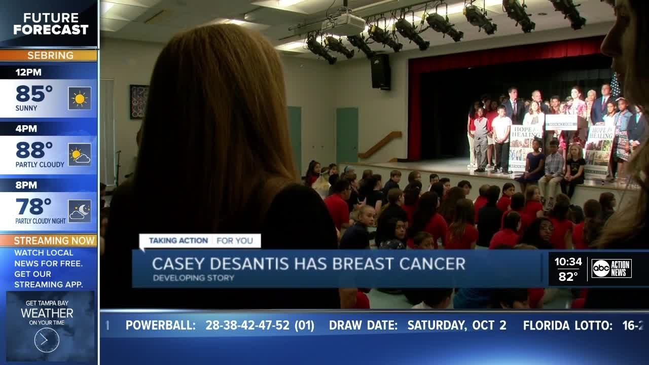 Florida First Lady Casey DeSantis Has Breast Cancer