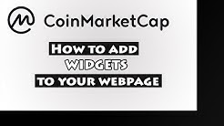 How to add CoinMarketCap widgets to your webpage