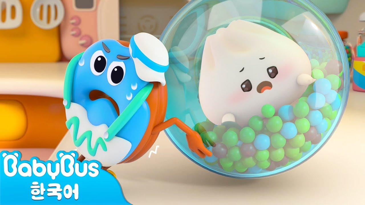 아찔한 숨바꼭질 | 음식친구 동화 9화 | 햄버거 사탕 도넛 찌빵 | 베이비버스 인기동화 | BabyBus