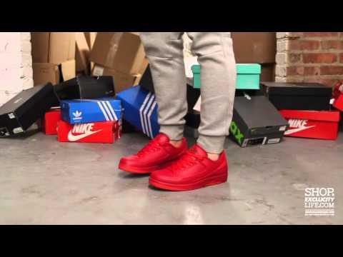 big sale bd6a5 33d7e ... Air Jordan 2 Low Retro Gym Red On-feet.