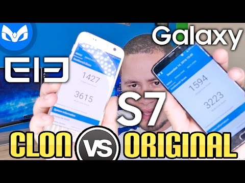 CLON VS ORIGINAL, Elephone S7 vs Galaxy S7