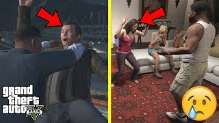 GTA 5 - What Happens if You VISIT MICHAEL'S FAMILY When MICHAEL DIES in The Final Mission