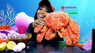 9 lb whole King Crab Mukbang, Come on Curtis!