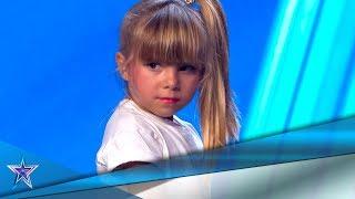 El PERREO de esta NIÑA de 5 años deja FLIPANDO al JURADO | Audiciones 3 | Got Talent España 5 (2019)