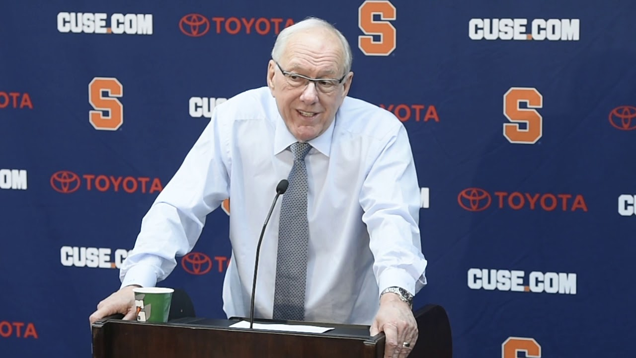 Jim Boeheim postgame news conference after Syracuse basketball vs. Virginia (2019)