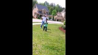 Kid Runs OVER neighborhood BULLY!