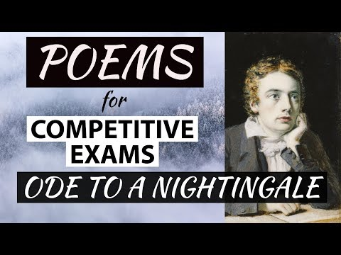 English Poems for competitive exams - Ode to a Nightingale - John Keats - Explanation in Hindi