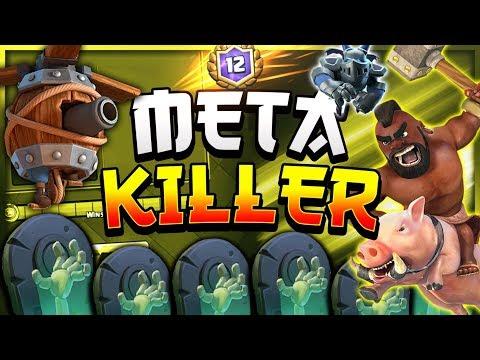 META-KILLER! Hog Rider Flying Machine FAST Cycle Deck! — Clash Royale