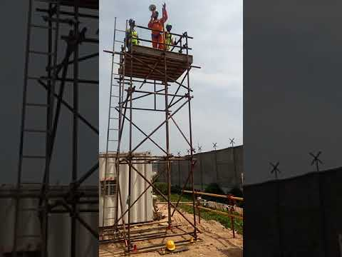 training on material falling at height part-3, Offshore infrastructures limited Kochi PDPP Project