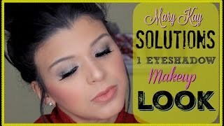 Mary Kay Tutorial | 1 Eyeshadow & a Topper Green Eye Look | Pure Dimensions Palette