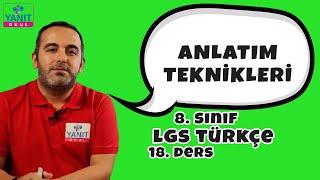Anlatım Teknikleri | 2021 LGS Türkçe Konu Anlatımları #8trkc