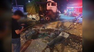 충남 아산 버스·덤프트럭 충돌…2명 사망·32명 부상 …