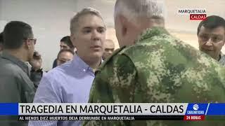 En aumento las víctimas por grave derrumbe en Marquetalia, Caldas
