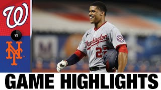 Asdrúbal Cabrera's five RBIs leads Nats to win | Nationals-Mets Game Highlights 8/10/20
