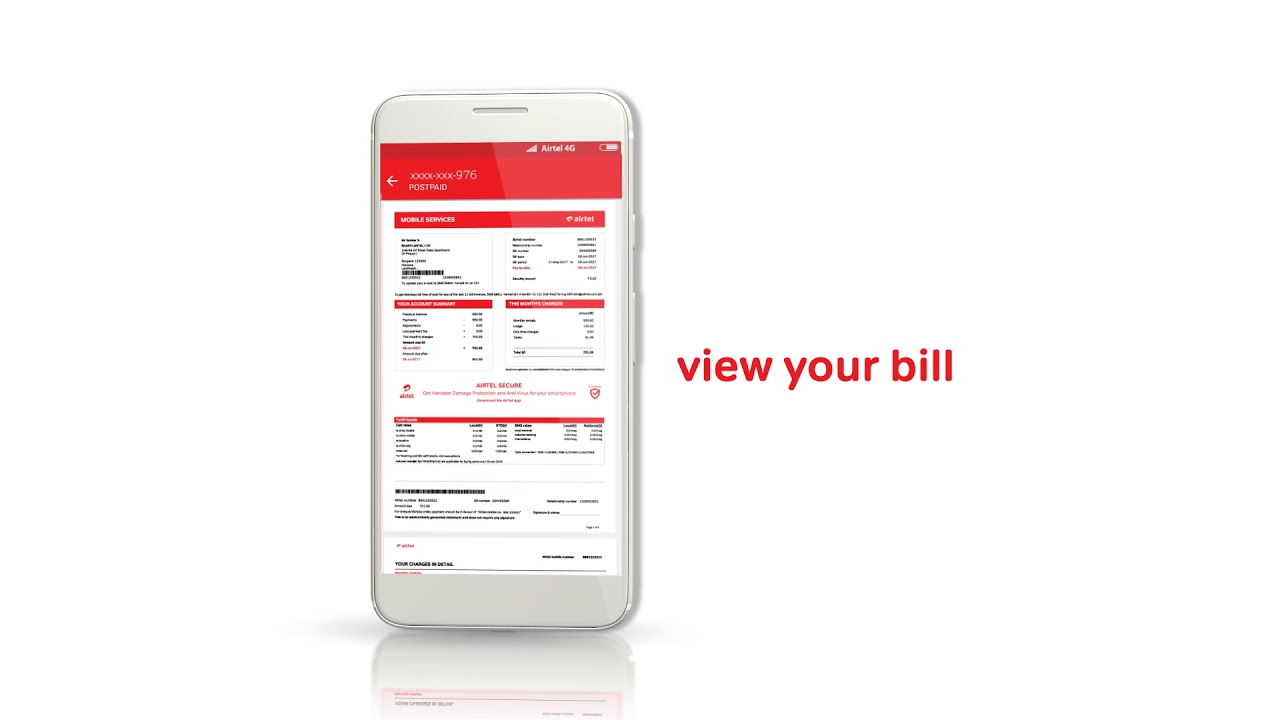 How can I check my postpaid bill online?