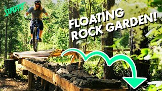 Floating Rock Garden Build and Ride! // Adding Onto our Wooden Skinny Line