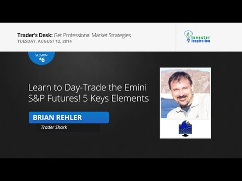 Day Trade the Emini S&P Futures with 5 Key Elements | Brian Rehler