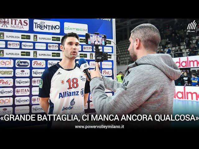 Superlega, l'intervista post Trento - Milano di Nicola Pesaresi