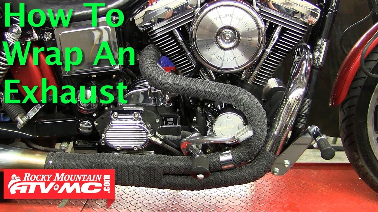 How To Wrap A Motorcycle Or ATV Exhaust Pipe - YouTube